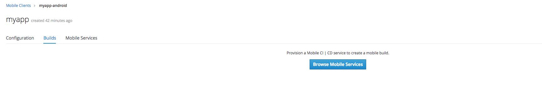 Mobile Developer Console :: AeroGear Mobile Services